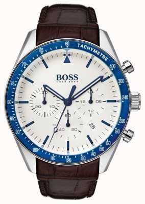 Boss Herren Trophäe weißes Zifferblatt 1513629