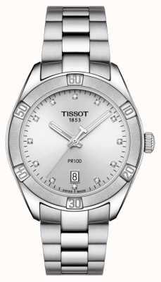 Tissot Damen Pr 100 Sport Chic Diamant Set Datumsanzeige T1019101103600