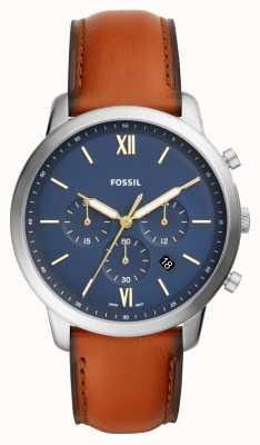 Fossil Neutra Chronographen Zifferblatt braun Lederarmband Uhr FS5453