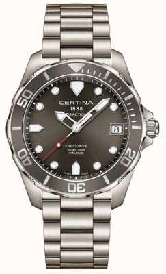 Certina Herren ds action precidrive grau Zifferblatt Titan Uhr C0324104408100
