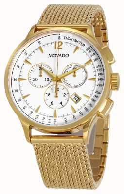 Movado Chronograph mit vergoldetem Armband für Herren 0607080
