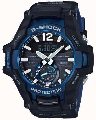 Casio G-Schock Gravitationsmaster Bluetooth solar schwarz / blau Gummi GR-B100-1A2ER