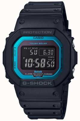 Casio G-Shock Bluetooth Funk Resin Band schwarz / blau GW-B5600-2ER
