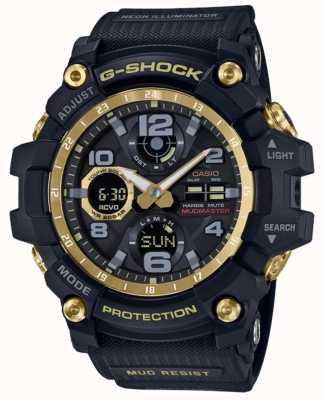 Casio G-Shock funkgesteuertes schwarz-goldenes Kautschukarmband GWG-100GB-1AER