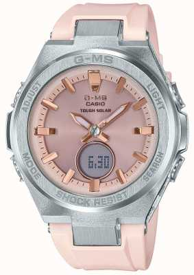 Casio G-MS-Baby-G robust solar rosa Kautschukband MSG-S200-4AER