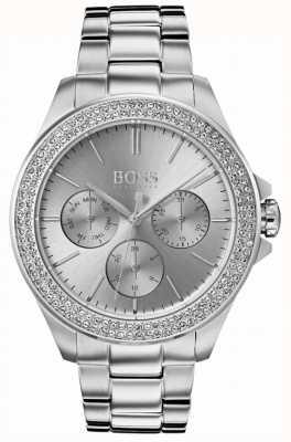 Hugo Boss Erstklassiger Damenkristallset aus Edelstahl 1502442