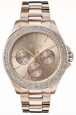 Hugo Boss Erstklassiges vergoldetes Damen Armband aus vergoldetem Glas 1502443