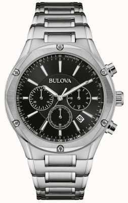 Bulova Chronograph für Herrenuhr aus Edelstahl 96B247