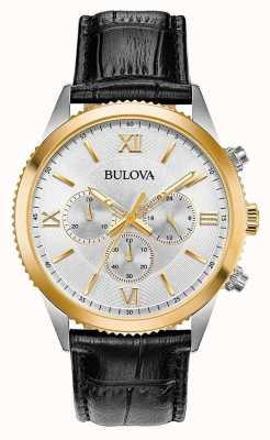 Bulova Schwarze Chronographenuhr für Damen 98A218