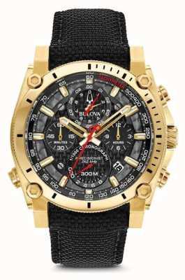 Bulova Herren Sport Champlain Precisionist schwarz und gold Uhr 97B178