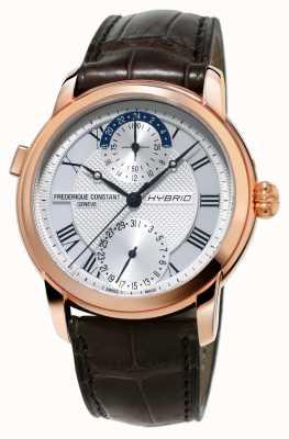 Frederique Constant Hybrid-Manufaktur 3.0 automatische Smartwatch Braungurt FC-750MC4H4