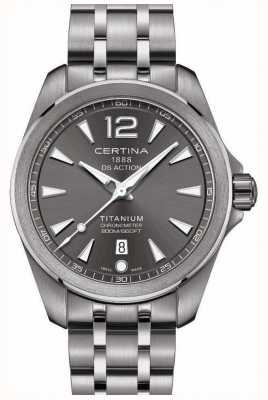 Certina Mens ds action watch graues Zifferblatt Edelstahlarmband C0328514408700