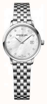 Raymond Weil Womens Freelancer Perlmutt Zifferblatt Diamant Uhr 5626-ST-97081