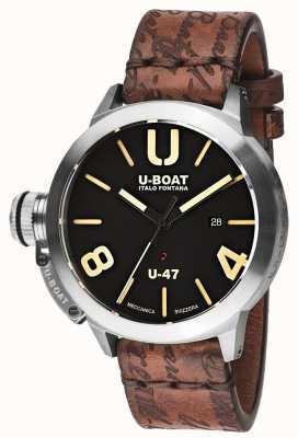 U-Boat Classico 47 as1 automatisches schwarzes Kautschukband 8105