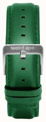 Weird Ape Smaragd Leder 20mm Band Silberschnalle ST01-000110