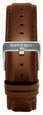 Weird Ape Oak Lederband 20 mm silberne Schnalle ST01-000099