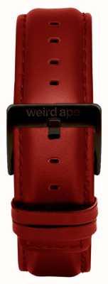 Weird Ape Rote Lederschnalle mit 20mm Band ST01-000077