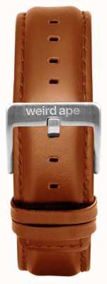 Weird Ape Tan Leder 20mm Band Silber Schnalle ST01-000100