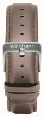 Weird Ape Haselnuss Leder 20mm Band Silberschnalle ST01-000101