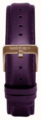 Weird Ape Aubergine Leder 16mm Band Schokolade Schnalle ST01-000068
