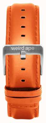 Weird Ape Orange Leder 20mm Band Silberschnalle ST01-000111