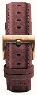Weird Ape Pastell rosa Leder 16mm Band Roségold Schnalle ST01-000033
