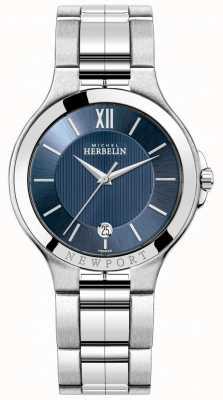 Michel Herbelin Herren Newport Uhr mit blauem Zifferblatt 12298/B15