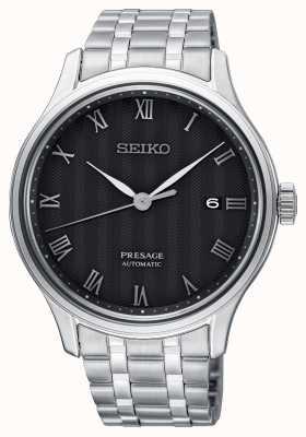 Seiko Presage Herren automatische schwarze Zifferblatt Edelstahl Armband SRPC81J1