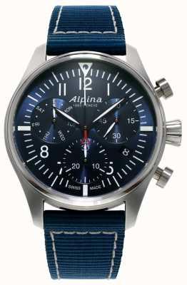 Alpina Herren Startzeit Pilot Chronograph Quarz blau AL-371NN4S6