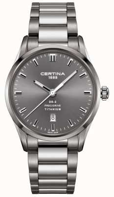 Certina Herren ds-2 precidrive grau Titan Uhr C0244104408120