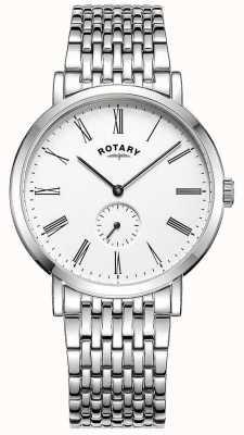 Rotary Herrenarmbanduhr aus Edelstahl mit versetzter Edelstahl-Uhr GB05310/01