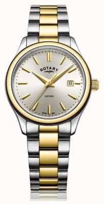 Rotary Armbanduhr aus zweifarbigem Gold mit silberner Damenarmbandierung LB05093/03