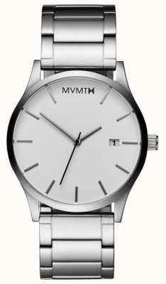 MVMT Klassisches weißes Silber der Männer L213.1B.131