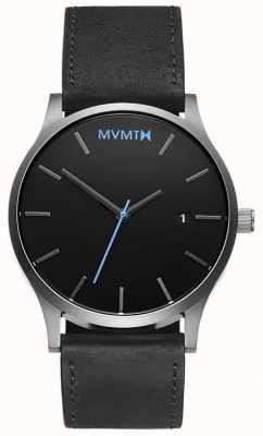 MVMT Klassisches schwarzes Silber der Männer MM01-BSL