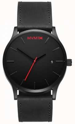 MVMT Klassisches schwarzes Leder | schwarzes Armband | schwarzes Zifferblatt D-L213.5L.551