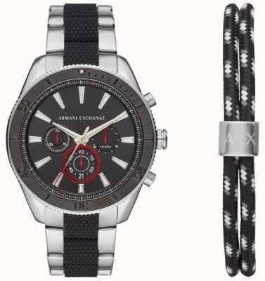 Armani Exchange Herren Enzo Sport Chronograph Armbanduhr Geschenkset AX7106
