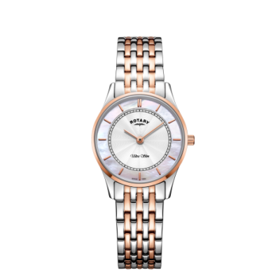 Rotary Ultraleichtes Damenarmband mit zweifarbigem Armband aus Perlmutt LB08302/02
