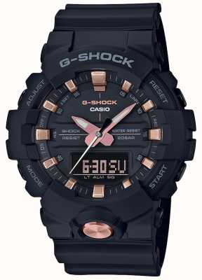 Casio G-Shock Analog Digital Multifunktions matt schwarz Roségold GA-810B-1A4ER