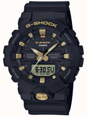 Casio G-Shock analoges digitales Multifunktions-Schwarzgold GA-810B-1A9ER