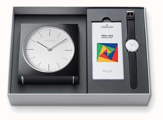 Junghans Max Bill Clock & Watch Set limitierte Auflage 2018 363/2816.00