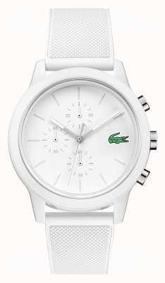 Lacoste 12.12 weißes Chronographen-Silikonarmband 2010974