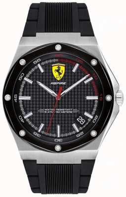 Scuderia Ferrari Schwarze Datumsanzeige aus schwarzem Kautschukband 0830529