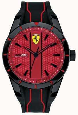Scuderia Ferrari Mens redrev rotes Zifferblatt schwarz Kautschukband 0830540