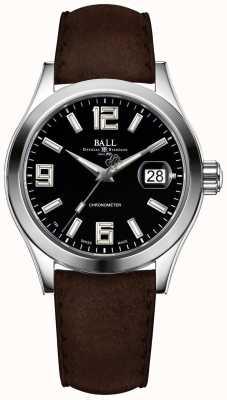 Ball Watch Company Engineer ii Pionier schwarzes Zifferblatt braunes Lederarmband NM2026C-L4CAJ-BK