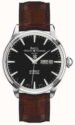 Ball Watch Company Trainmaster Eternity schwarzes Zifferblatt Tages- und Datumsanzeige NM2080D-LJ-BK