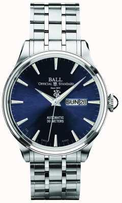 Ball Watch Company Trainmaster Eternity blaues Zifferblatt automatische Tages- und Datumsanzeige NM2080D-SJ-BE