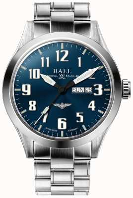 Ball Watch Company Engineer iii Silber Stern blau Zifferblatt Tag und Datum anzuzeigen NM2180C-S2J-BE