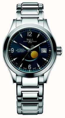 Ball Watch Company Ohio Mondphase automatische blaue Zifferblatt Datumsanzeige NM2082C-SJ-BE