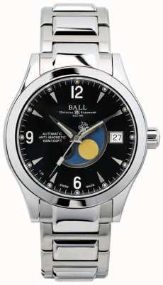 Ball Watch Company Ohio Mondphase automatische schwarze Zifferblatt Datumsanzeige NM2082C-SJ-BK