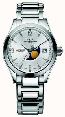Ball Watch Company Ohio Mondphase automatische Silber Zifferblatt Datumsanzeige NM2082C-SJ-SL